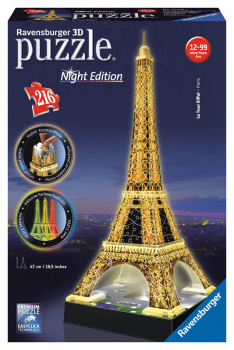 Eiffel Tower - Night Edition 3D Puzzle (216 pieces)