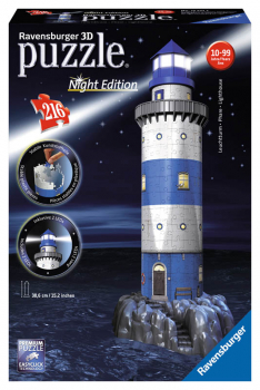 Lighthouse - Night Edition 3D Puzzle (216 pieces)