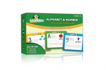 Visual Dry Erase Alphabet & Numbers Flashcards