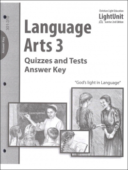 Language Arts 301-310 Quiz/Tests Answer Key Sunrise 2nd Edition