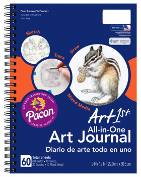 "Art1st All-in-One Art Journal (12"" x 9"") 60 sheets"