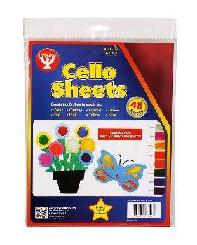 "Cello Sheets 8 1/2""x11"" (6 each of 8 colors) 48 sheets"