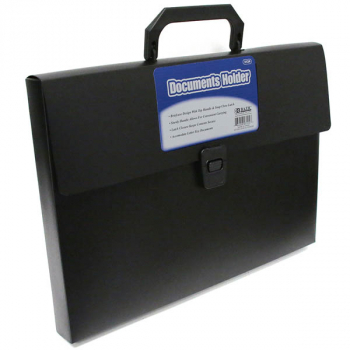 Documents Holder - Black with Handle