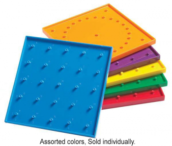 "Geoboard 6"" 5x5 pin double-sided w/ rubber bd"
