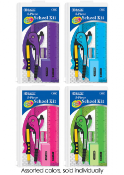 School Kit with Zipper Pouch (5 Piece)