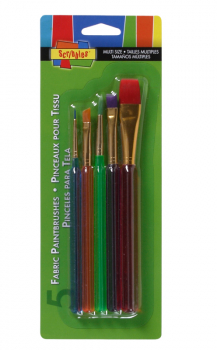 Scribbles Fabric Paintbrushes (5 piece set)
