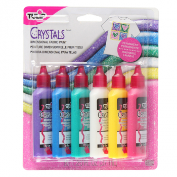 Dimensional Fabric Paint - Crystal (6 pack)
