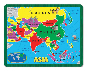 Asia Continent Puzzle (Continent Puzzle Collection)