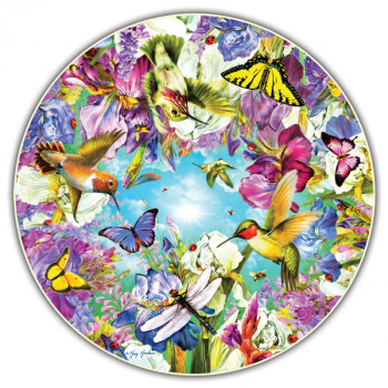 Hummingbirds 500 Piece Puzzle (Round Table Collection)