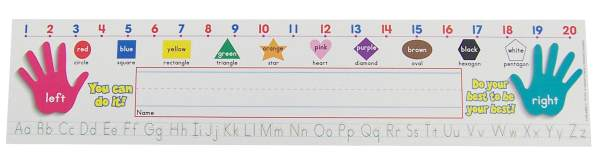 Super School Tool Name Plates: Primary (Standard Manuscript)