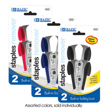 Staple Removers with Safety Lock (2/Pack)
