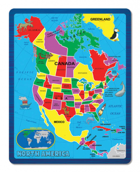 North America Continent Puzzle (Continent Puzzle Collection)