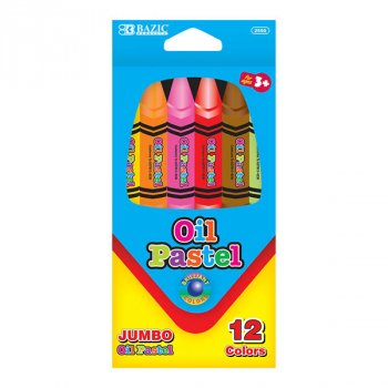 Student Grade Jumbo Oil Pastels (12 Colors)