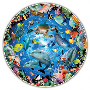 Ocean View 500 Piece Puzzle (Round Table Collection)