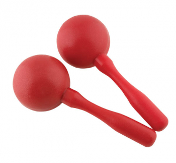 "Red Plastic Maracas (3"")"