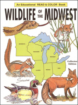 Wildlife of the Midwest Coloring Book
