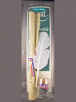 Bill of Rights Quill & Ink Bottle with Document Set