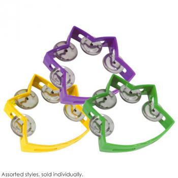 Sound Choice Small Star Tambourine (assorted color)