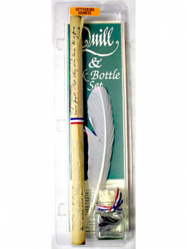 Gettysburg Address Quill & Ink Bottle with Document Set