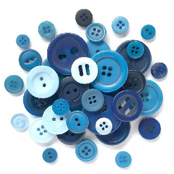 Buttons Galore Button Classic Haberdashery Blues (Assorted)