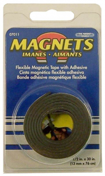 "Flexible Magnet Tape 1/2"" x 30"" Roll"