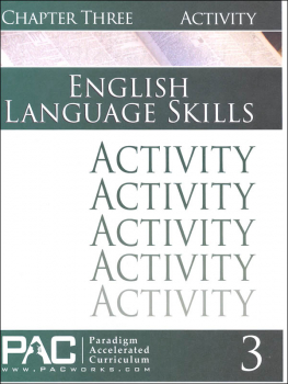 English I: Language Skills Chapter 3 Activities
