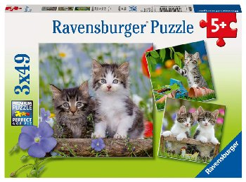 Cuddly Kittens Puzzles (Three 49-piece puzzles)