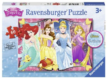 Heartsong Glitter Puzzle - 60 piece (Disney Princess)