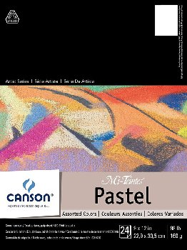 "Canson Mi-Teintes Pastel Paper Pad 9"" x 12"" - Assorted Colors"