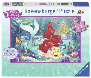 Hugging Ariel Floor Puzzle - 24 piece (Disney Princess)