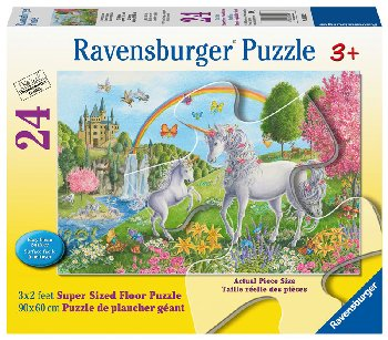Prancing Unicorns Children's Floor Puzzle (24 piece)