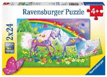 Rainbow Horses Puzzles (Two 24-piece puzzles)