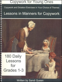 Copywork Lessons in Manners