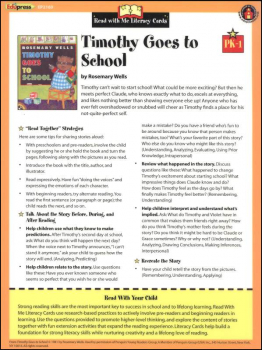 Timothy Goes to School (Literacy Cards Grades PK-1)