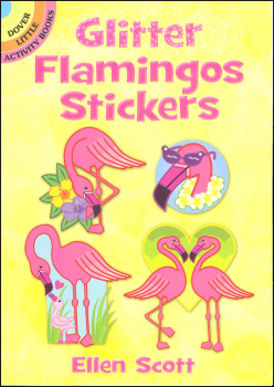 Glitter Flamingos Stickers