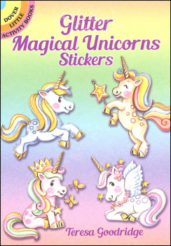 Glitter Magical Unicorns Stickers