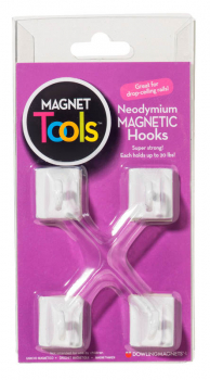 Neodymium Ceiling Hook Magnets - Set of 4