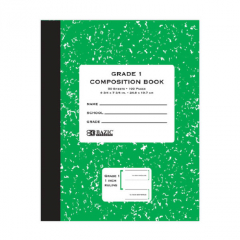 Primary Composition Book - Grade 1 (50 pages)