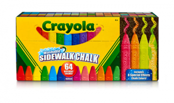Crayola Ultimate Washable Sidewalk Collection - 64 count