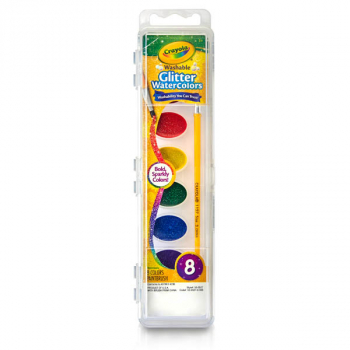 Crayola Washable Glitter Watercolors - 8 count