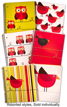 Creation Series Three Section Notebook (Bird-Themed Cover)