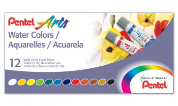 Pentel Water Colors - 12-Color Set