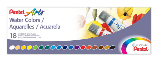 Pentel Water Colors - 18-Color Set