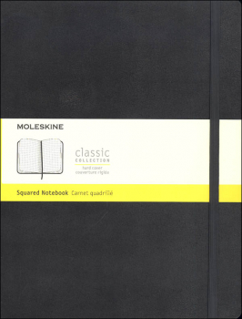 Classic Black Hardcover X-Large Notebook - Squared