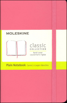 Classic Daisy Pink Hardcover Pocket Notebook - Plain