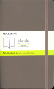 Classic Earth Brown Softcover Large Notebook - Plain