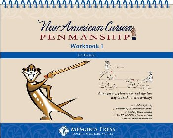 New American Cursive Penmanship Program Workbook 1