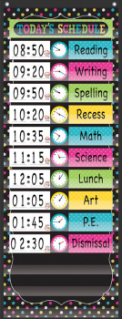 Chalkboard Brights14 Pocket Daily Schedule Pocket Chart