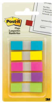 "Post-It 1/2"" Flags - Assorted Bright Colors"