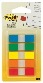 "Post-It 1/2"" Flags - Assorted Colors"